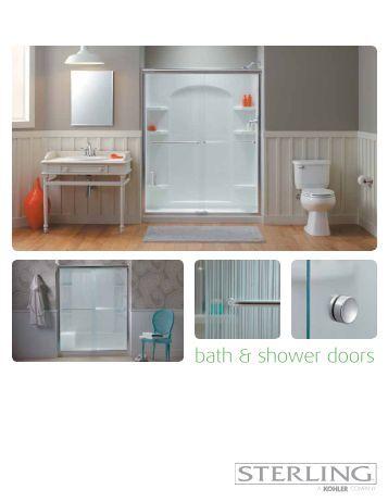 "Bath Basicsâ""¢ Swinging Shower Door - Sterling"