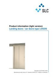 Product information (light version) Landing doors / car ... - slc-liftco.com