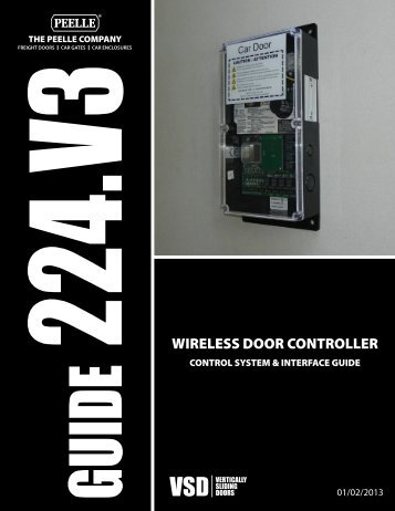 224.V3 WIRELESS DOOR CONTROLLER - Peelle Company