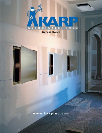 www.karpinc.com Access Doors - Karp Associates, Inc.
