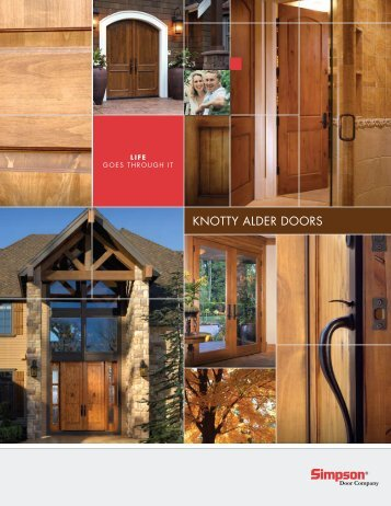 Download PDF Knotty Alder Doors - Simpson Door Company