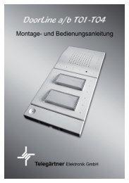 Bedienungsanleitung DoorLine a/b T01-T04 - Telegärtner Elektronik ...