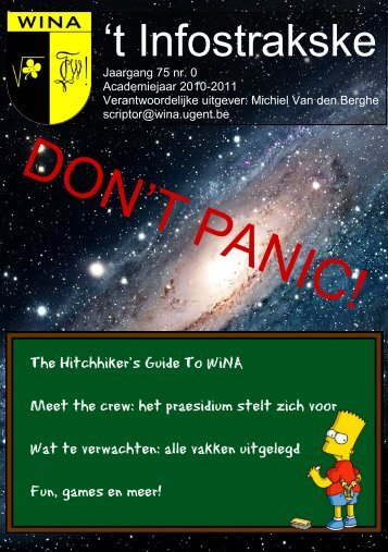 28 september, S9 - WiNA - Universiteit Gent