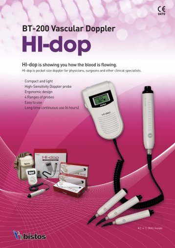 BT-200 Vascular Doppler HI-dop