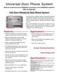 PCM Paging Control System Manual LUPCMALL - Avaya Paging