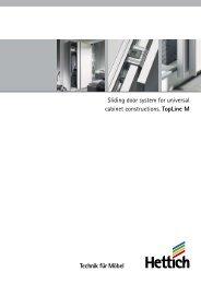 Sliding door system for universal cabinet ... - Hettich TopLine
