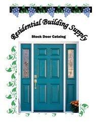 Stock Interior Door Catalog - Residential Building Supply