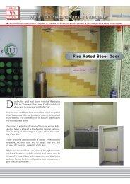 Fire Rated Steel Door - Duodex Shutters