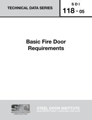 Basic Fire Door Requirements - Steel Door Institute