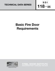 Basic Fire Door Requirements - Steel Door Institute