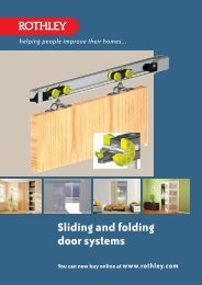 Sliding and folding door systems - Rothley