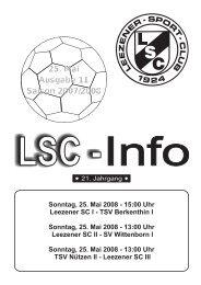LSC-Info 2007-2008 Ausgabe 11 - Leezener SC