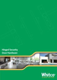 Hinged Security Door Hardware - Whitco