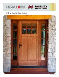 Harvey Therma-Tru Entry Door Systems - Harvey Building Products