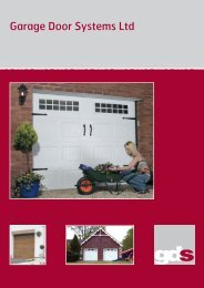 Download Brochure Size: 3.69MB - Lakes Garage Doors