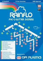 Pipes & Fittings: Rainflo - Specifile on-line