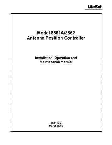 Model 8861A/8862 Antenna Position Controller Installation - ViaSat