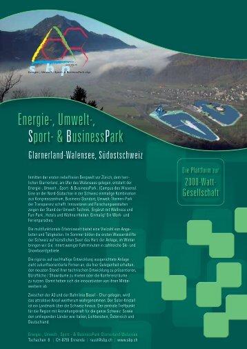 Energie-, Umwelt-, Sport- & BusinessPark - sbp.ch