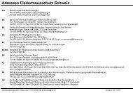 Adressen Fledermausschutz Schweiz - Pro Chiroptera
