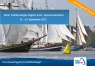 Kieler Traditionssegler-Regatta 2012 - Sponsorenkonzept 21. – 23 ...