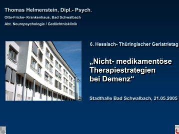 Gedächtnisklinik am Otto- Fricke - LAG Geriatrie Hessen-Thüringen