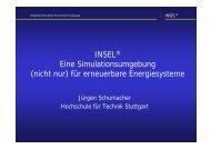 INSEL® Eine Simulationsumgebung (nicht nur) für erneuerbare ...