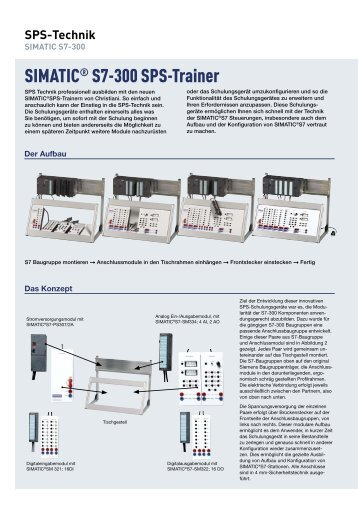 SIMATIC® S7-300 SPS-Trainer