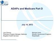 Webinar: ADAP and Medicare Part D - nastad
