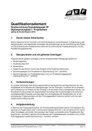 05 Qualifikationselement DP I Projektarbeit Version 2.1 - BFF Bern
