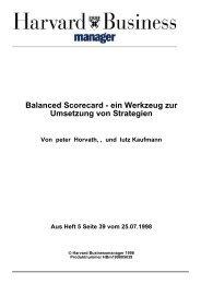 Balanced Scorecard - ein Werkzeug zur Umsetzung von ... - EconBiz