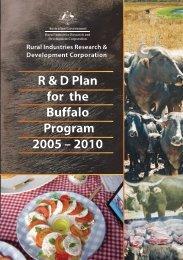 R & D Plan for the Buffalo Program 2005 – 2010