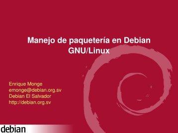 Paqueteria en Debian - enrique monge