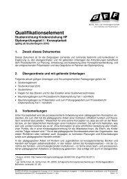 07 Qualifikationselement DP I Konzeptarbeit Version 1.1 - BFF Bern