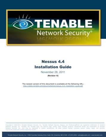 Nessus 4.4 Installation Guide - Tenable Network Security