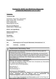 Protokoll Nr. 02/2011 der öffentlichen Sitzung des Ortsbeirates ...