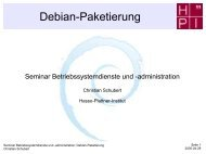 Debian-Paketierung - Operating Systems and Middleware Group at ...