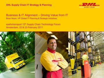 DHL Supply Chain IT Strategy & Planning - EyeforTransport