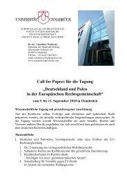 Call for Papers für die Tagung - European Legal Studies Institute ...