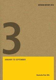 Interim Report Q3 2012 - Deutsche Post DHL