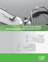 Guide d'utilisation des formulaires médicaux de la CSST