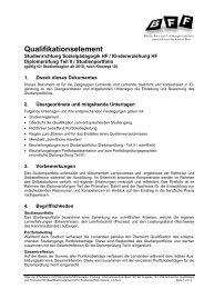 Qualifikationselement - BFF Bern