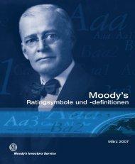 Moody's – Ratingsymbole und -definitionen - Deutsche Post DHL