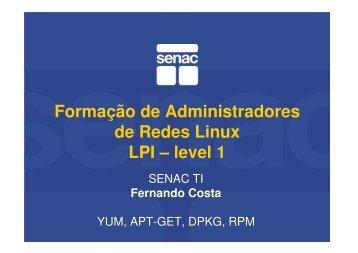 Formação de Administradores de Redes Linux ... - Fernando Costa