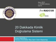FreeRADIUS is the most widely deployed RADIUS server ... - Ulakbim