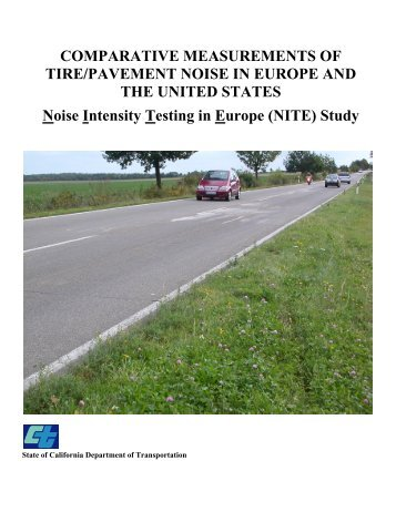 COMPARATIVE MEASUREMENTS OF TIRE/PAVEMENT NOISE IN ...