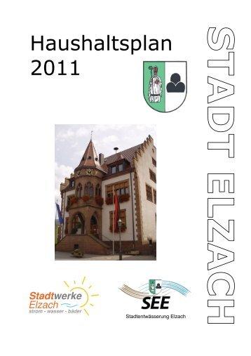 Haushaltsplan 2011 - Stadt Elzach
