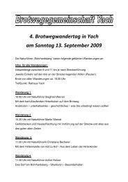 4. Brotwegwandertag in Yach am Sonntag 13. September 2009