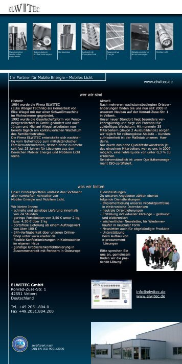 Download Imageflyer (PDF) - Elwitec