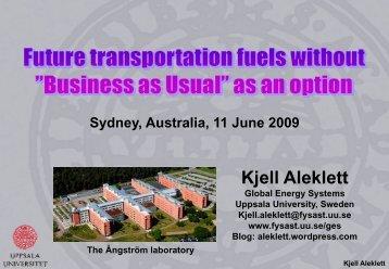 Kjell Aleklett - ASPO Australia, Australian Association for the Study ...