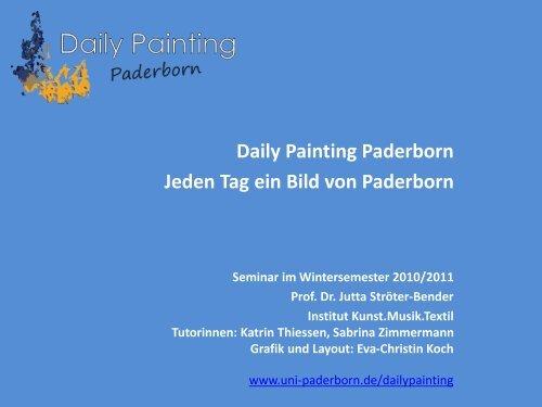 Daily Painting Paderborn Jeden Tag ein Bild von Paderborn